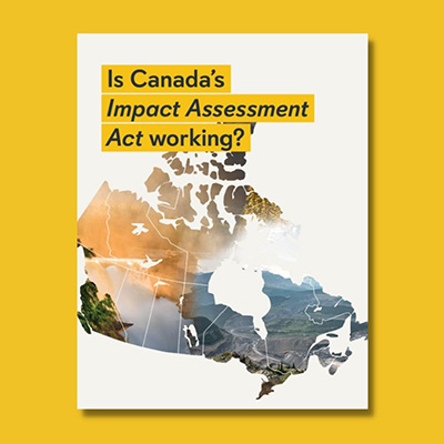 Report cover feat. map of Canada on yellow background